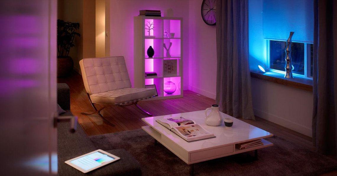 iluminación inteligente en el hogar