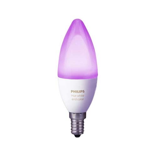 Philips Hue White and Color Ambiance Bombilla LED (E14)