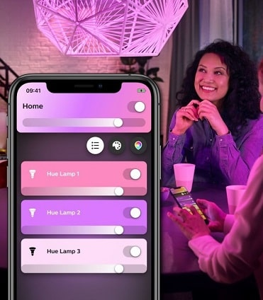 philips hue white and color ambiance smartphone